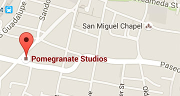 Map ofPomegranate Studios